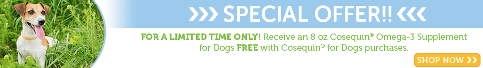 Free Omega 3 with any Cosequin for Dogs Purchase