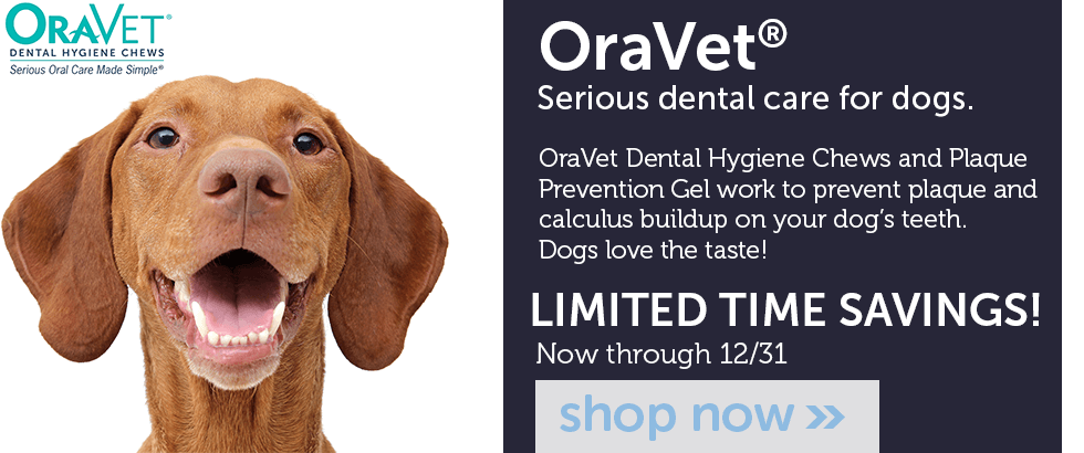 Save NOW on OraVet Dental Hygiene products for dogs