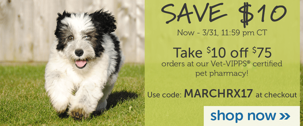 Save $5 off $50 at our Pet Pharmacy