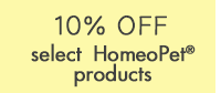 10% Off on select HomeoPet Products